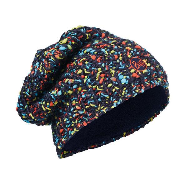 knitted e polar hat buff yssik dark navy