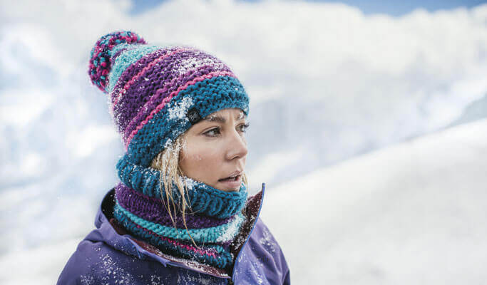 Buff - Berretto KNITTED POLAR HAT DORIAN BLUE INK