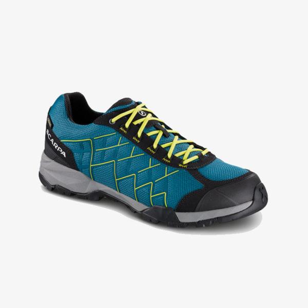 scarpa hydrogen-gtx-ocean-blue-spring-green-g